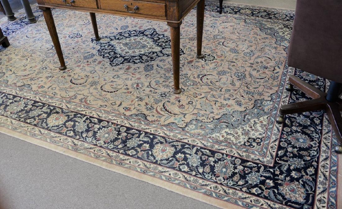 "Oriental carpet (some sun fading), 9' x 12'2"""