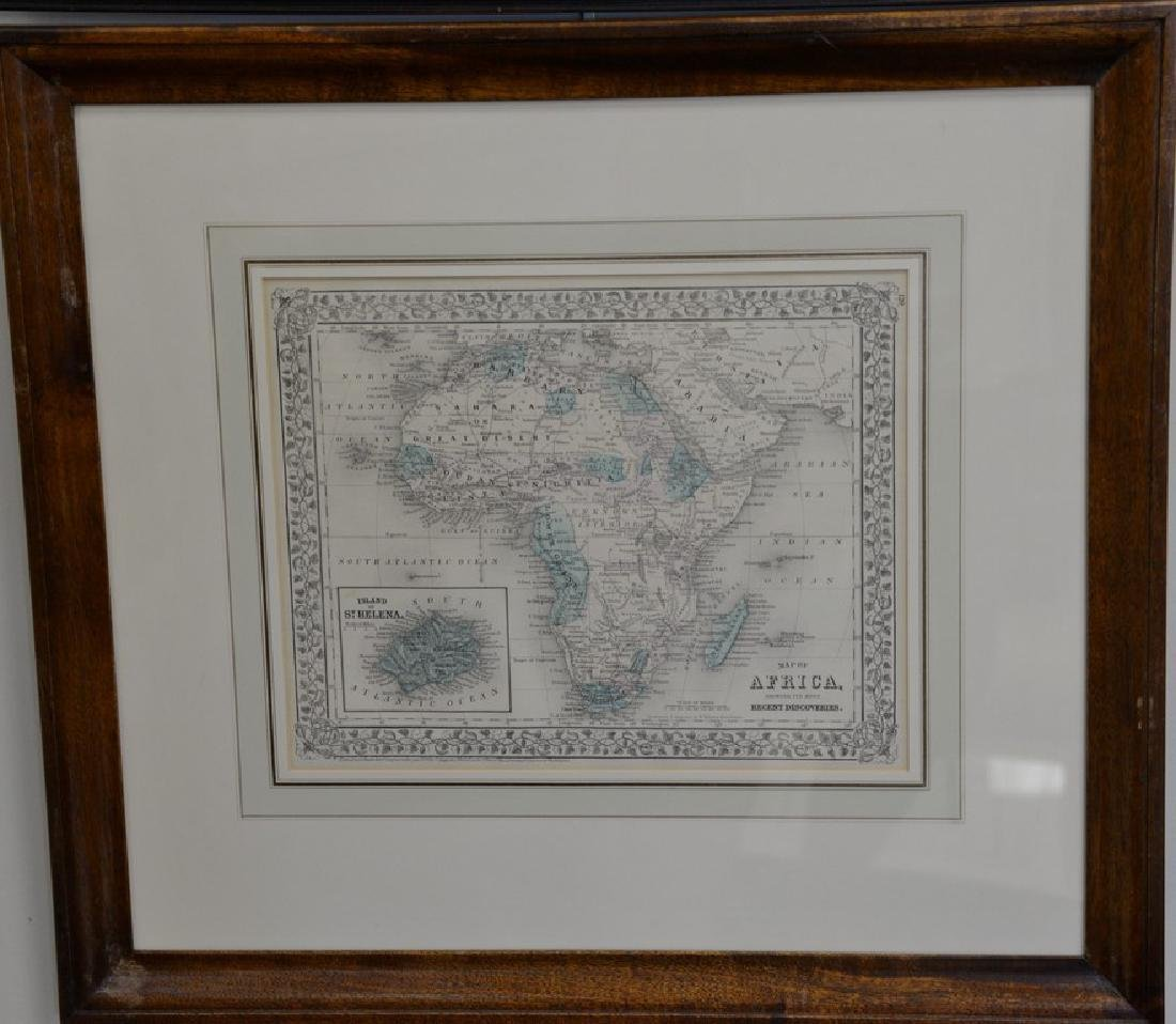 Group of twelve framed maps to include Africa,