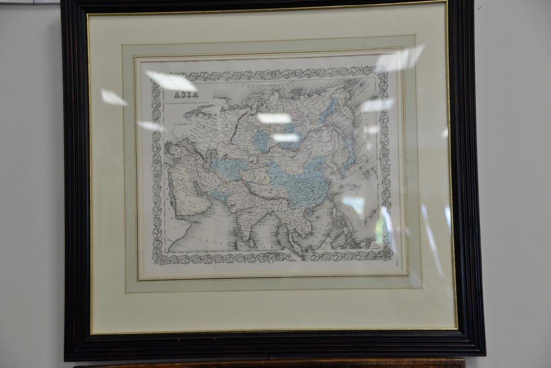 Group of twelve framed maps to include Africa, - 2