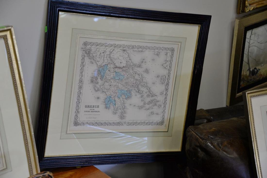 Group of twelve framed maps to include Africa, - 4