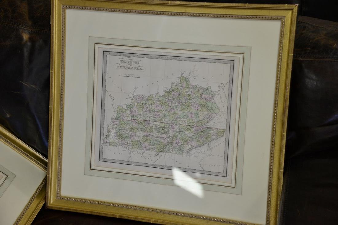 Group of twelve framed maps to include Africa, - 5
