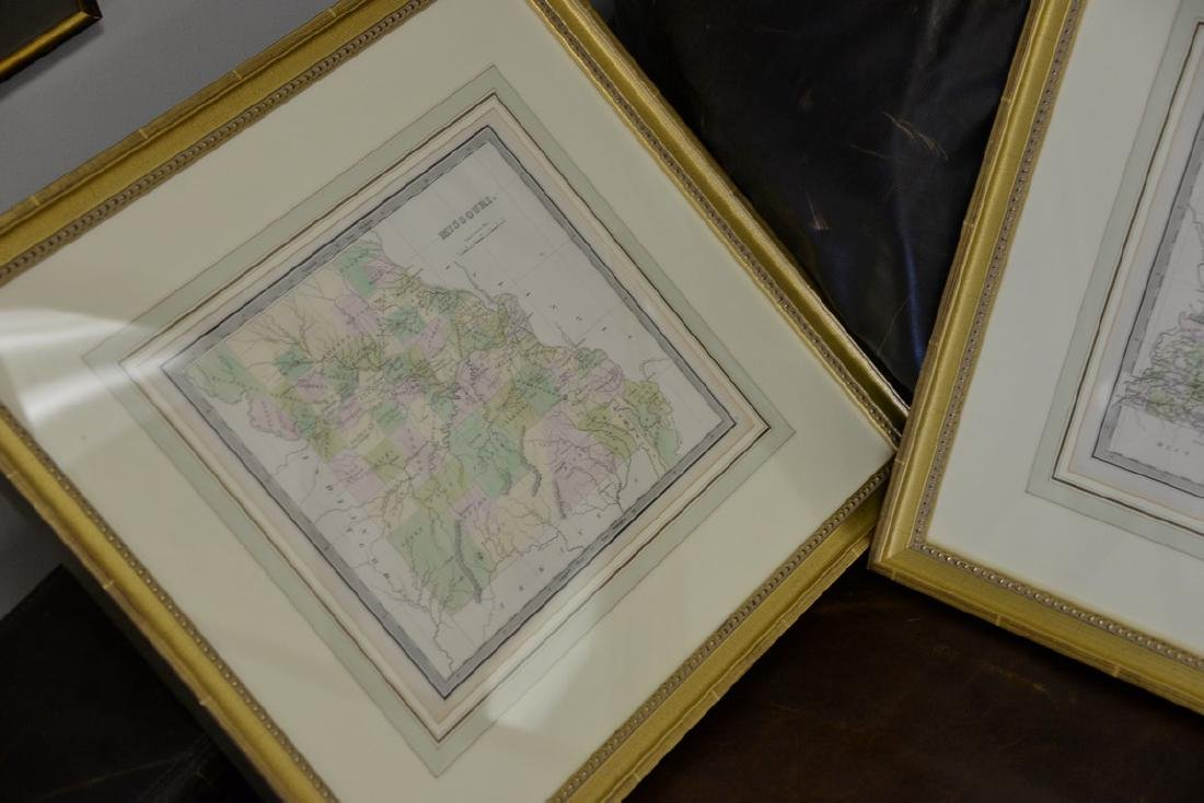 Group of twelve framed maps to include Africa, - 6