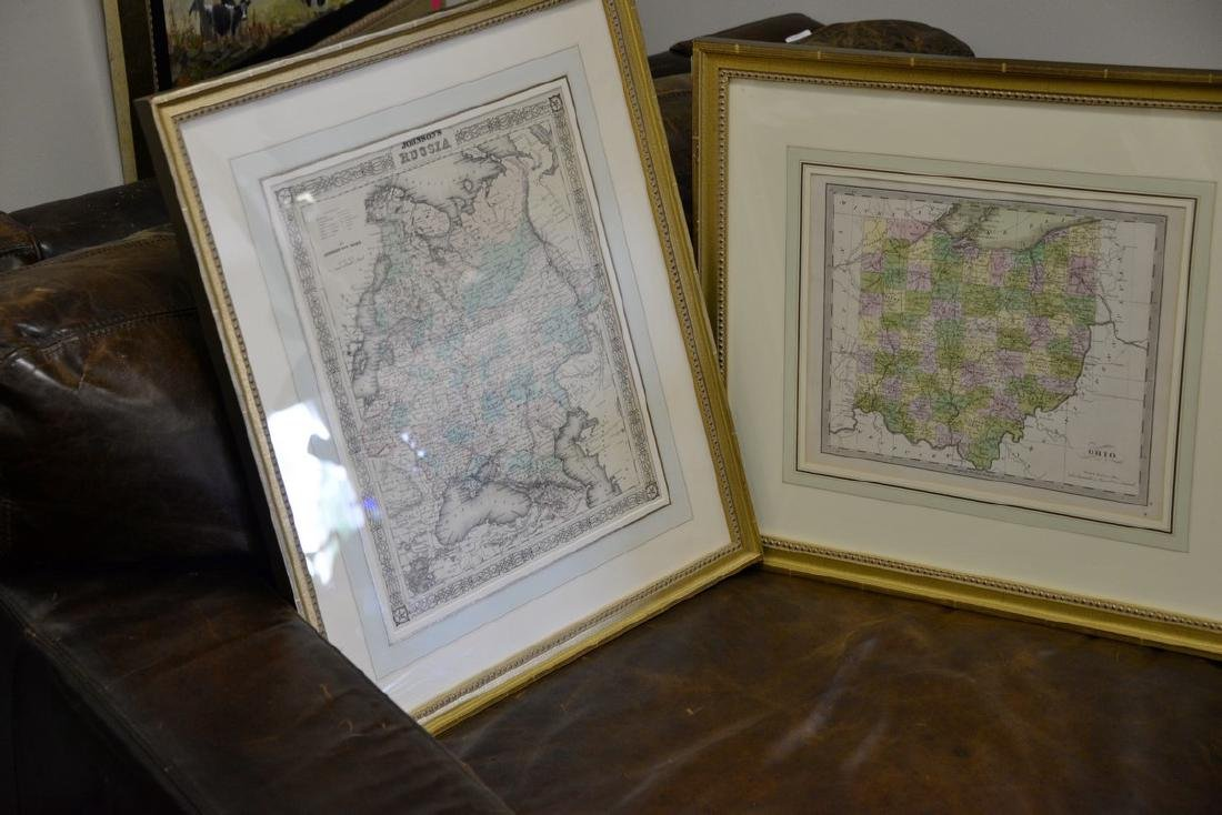 Group of twelve framed maps to include Africa, - 7