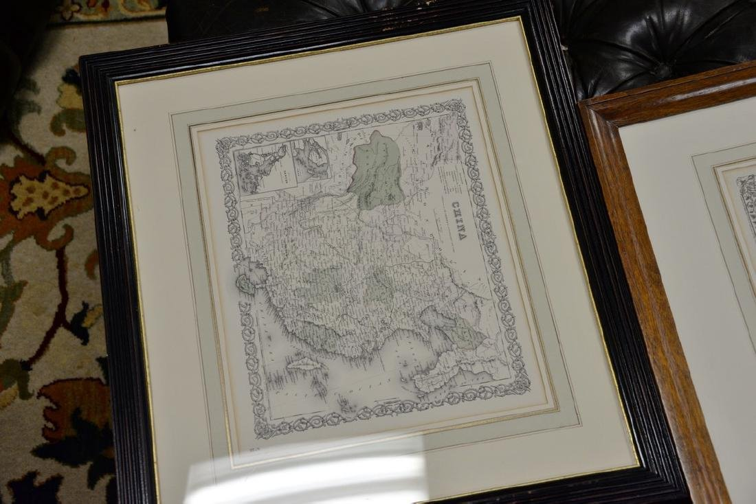 Group of twelve framed maps to include Africa, - 8