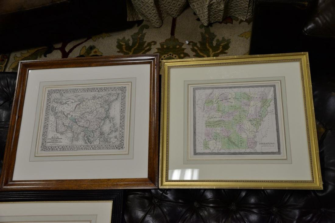 Group of twelve framed maps to include Africa, - 9