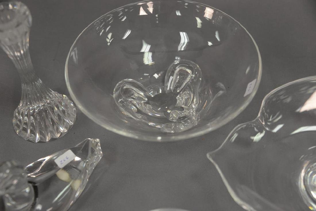 Six piece crystal lot to include Steuben Calyx 9 inch - 3