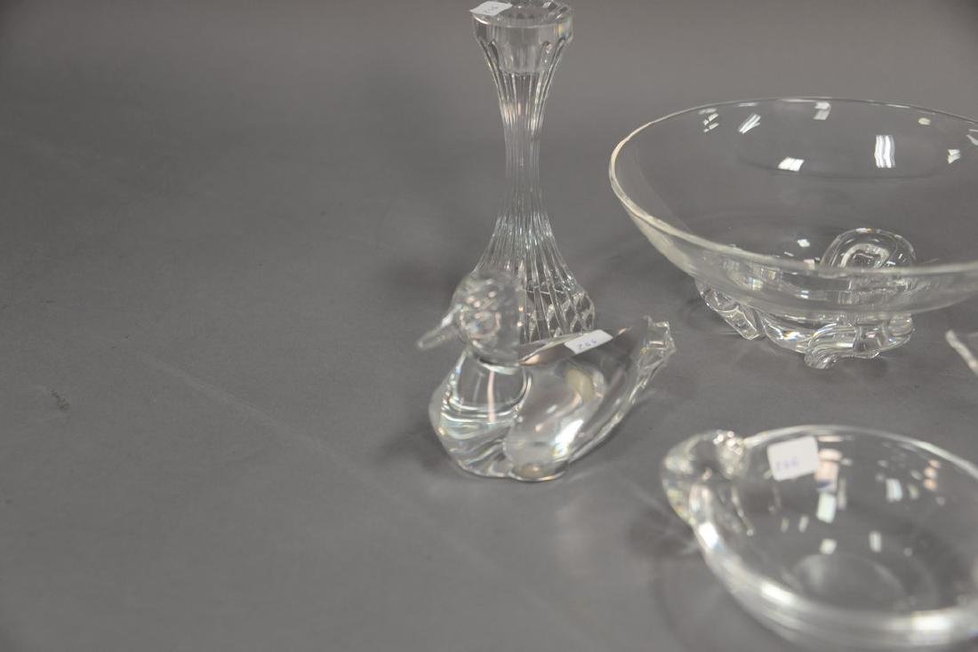Six piece crystal lot to include Steuben Calyx 9 inch - 4