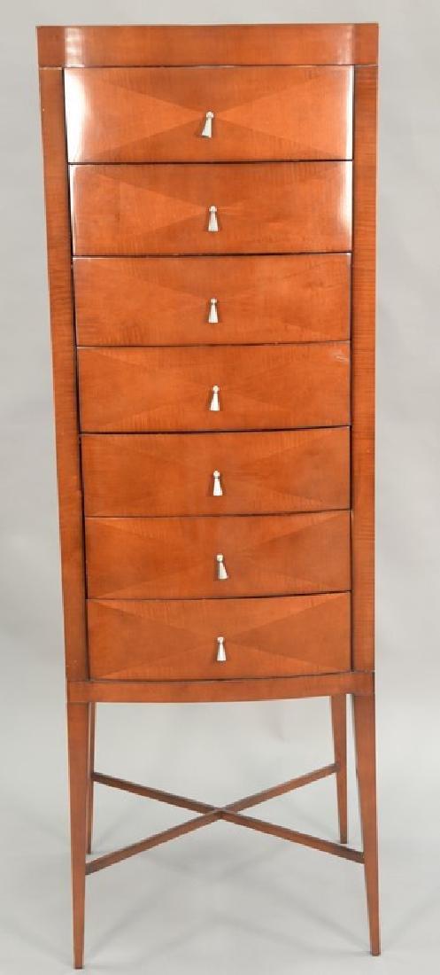 Baker Contemporary lingerie chest, seven drawers on