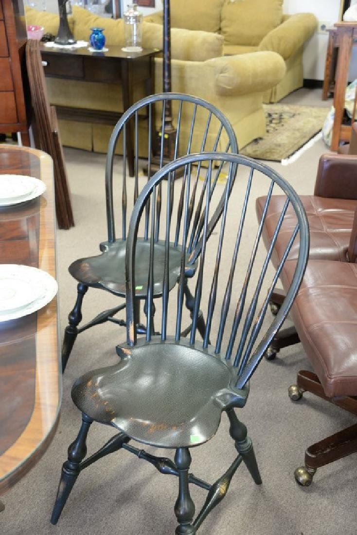 Set of six D.R. Dimes Windsor style side chairs, green - 2