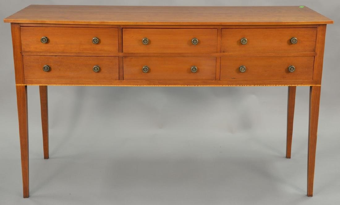 Eldred Wheeler cherry Federal style sideboard with six