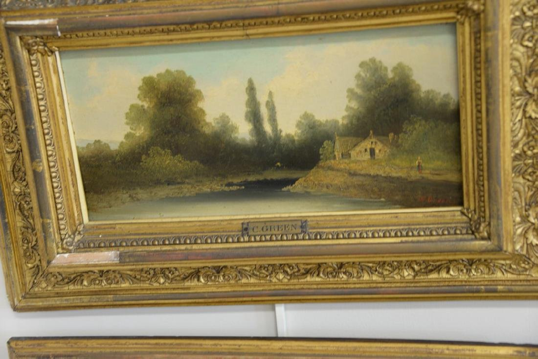 Group of three framed oil on board paintings including - 3