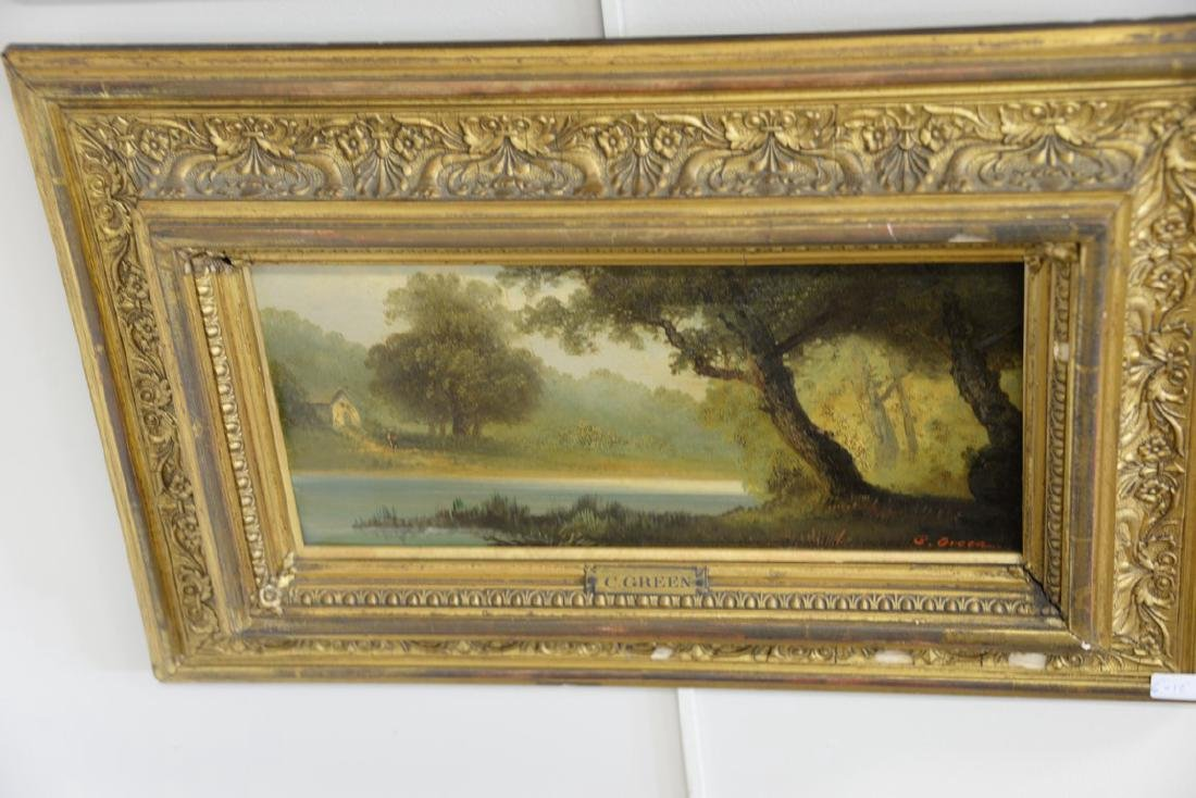 Group of three framed oil on board paintings including - 4