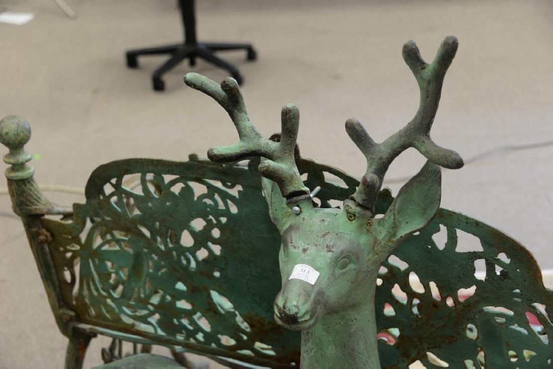 Cast iron outdoor garden deer statue, young buck. ht. - 3