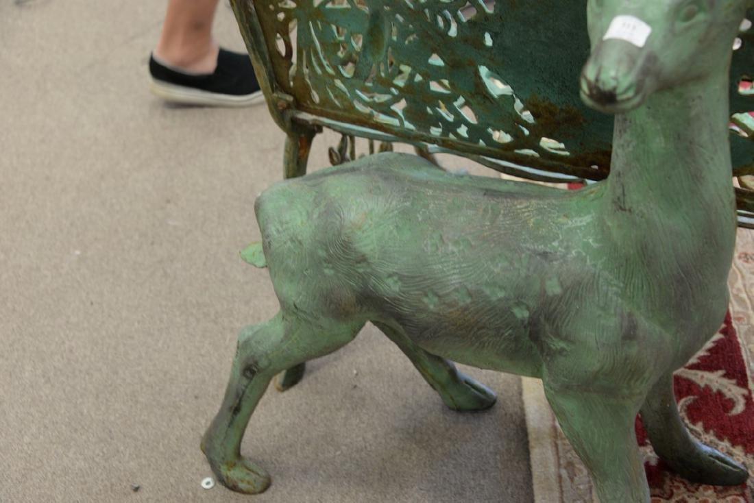 Cast iron outdoor garden deer statue, young buck. ht. - 4