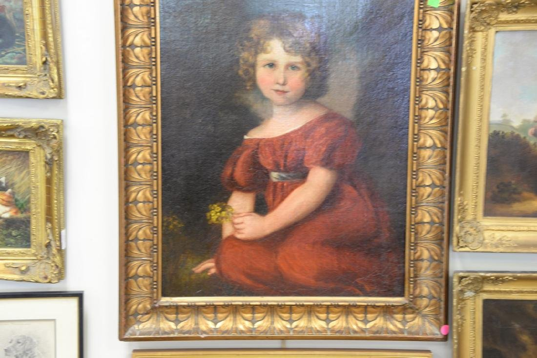 19/20th Century portrait of a young girl in a red dress - 2