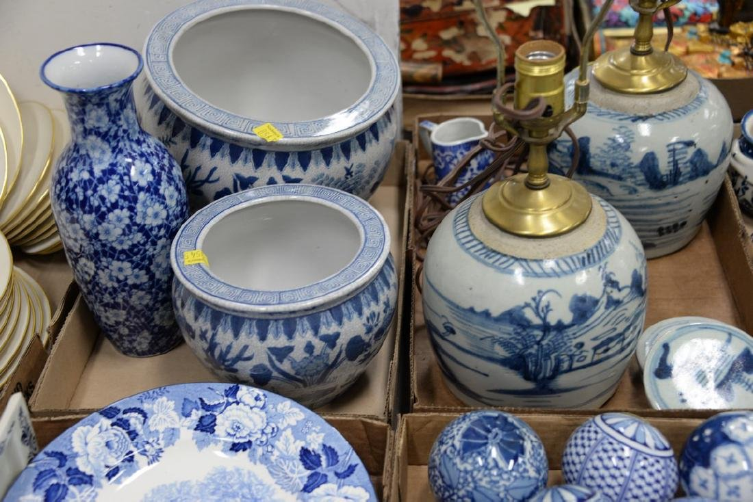 Five box lots of blue and white china to include - 3