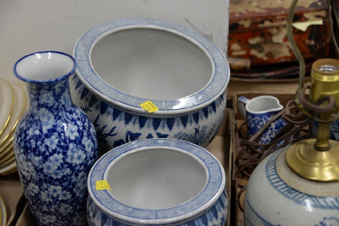 Five box lots of blue and white china to include - 4