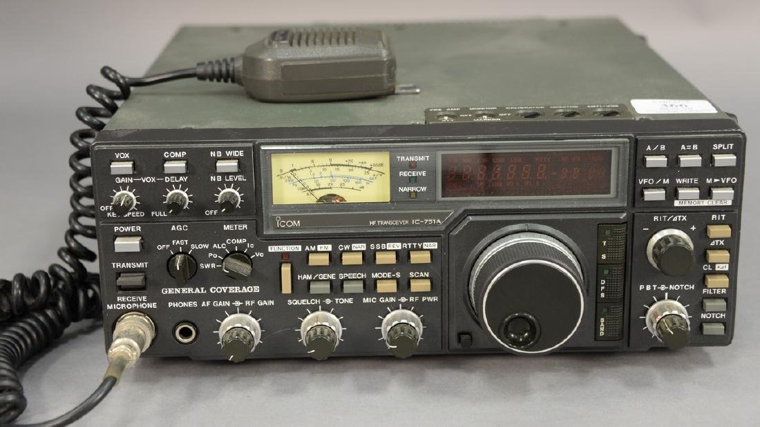 IcomIC-751A HF Transceiver radio.