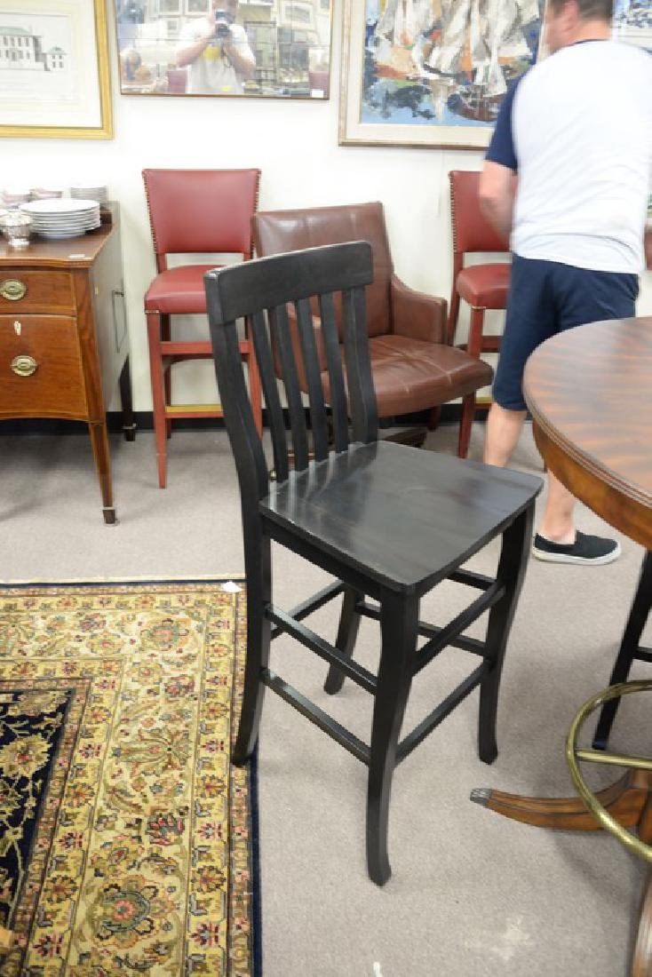 high top round table with three bar chairs. ht. 42in., - 3