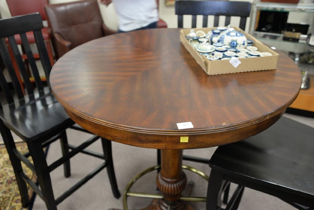 high top round table with three bar chairs. ht. 42in., - 4