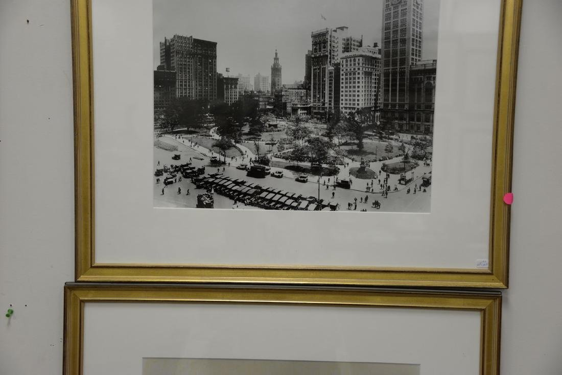 Four framed pieces to include WWI photograph of - 2