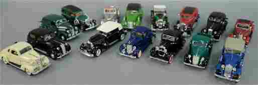 Group of fifteen 1930's model cars including 1936 Ford