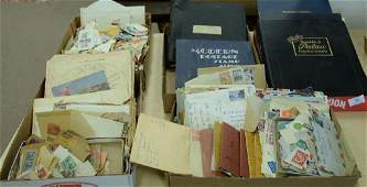 Group lot to include five stamp albums, pocket files,