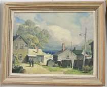 Grif Teller (1899-1993) oil on canvas, Bailey's Island,