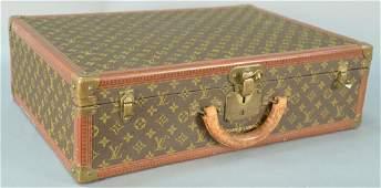 Vintage Louis Vuitton suitcase with inside label,
