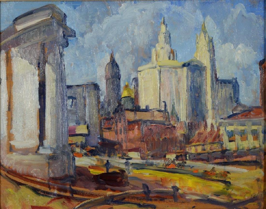 Leon Kroll (1884-1974), oil on panel, Study for