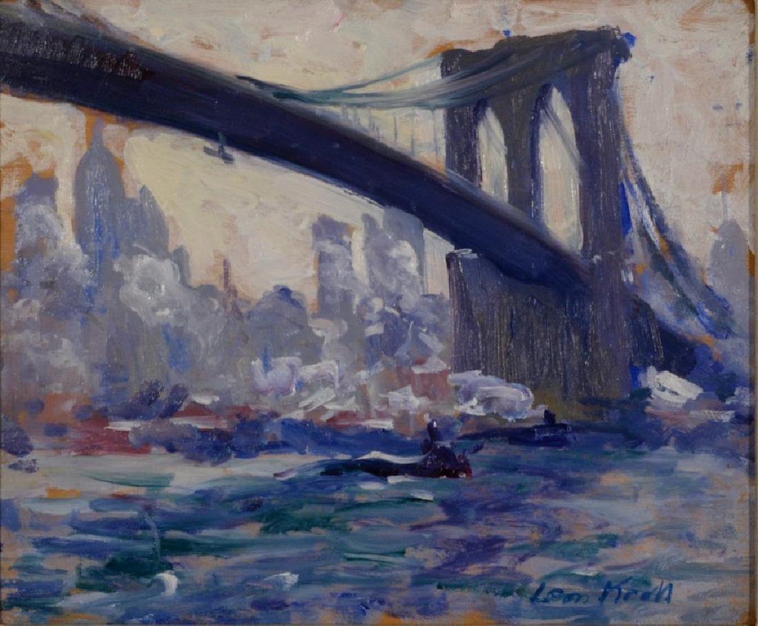 Leon Kroll (1884-1974), double sided oil on panel,