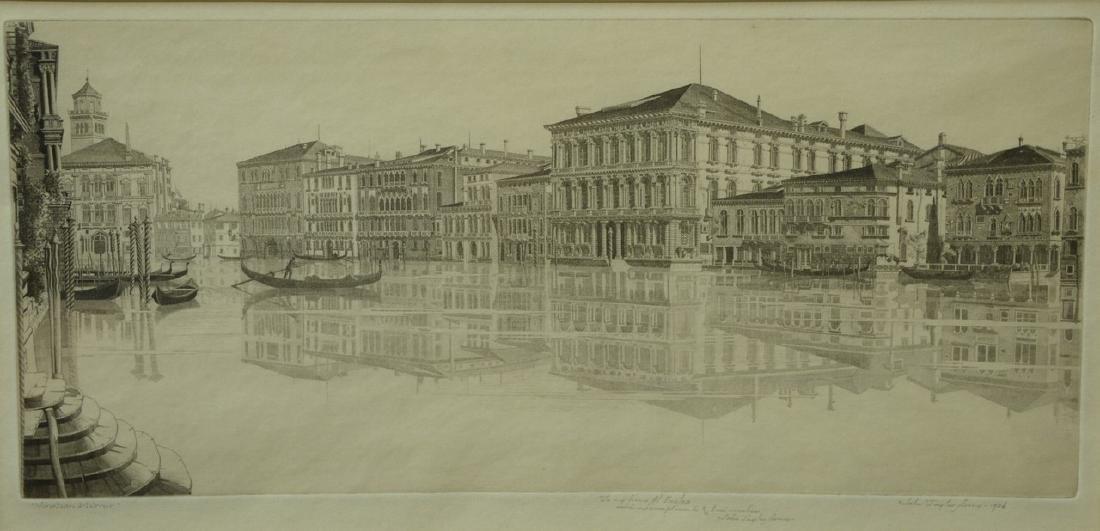 John Taylor Arms (1887-1953), etching, Venetian Mirror,