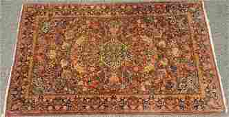 "Sarouk Oriental throw rug. 6'7"" x 4'"