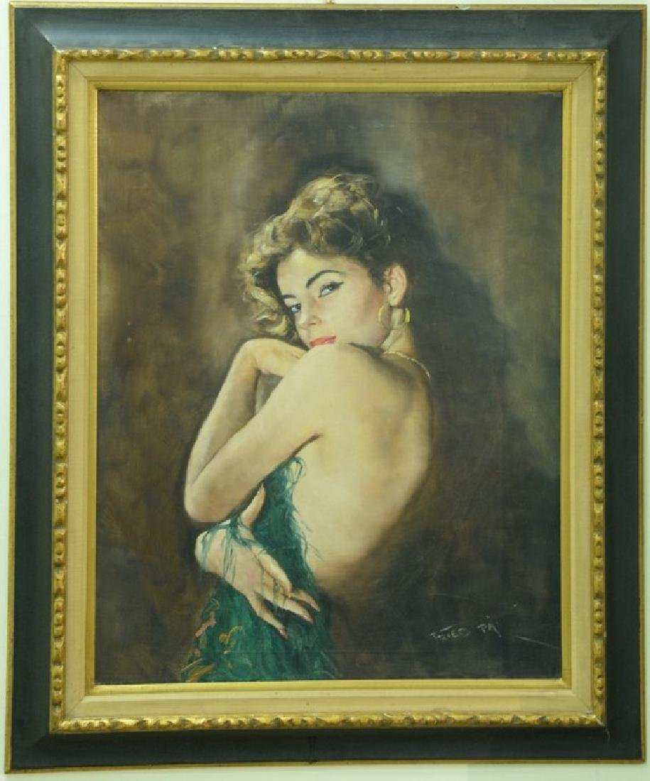"""Pal Fried (1893-1976), oil on canvas, """"Camilla"""", signed"""