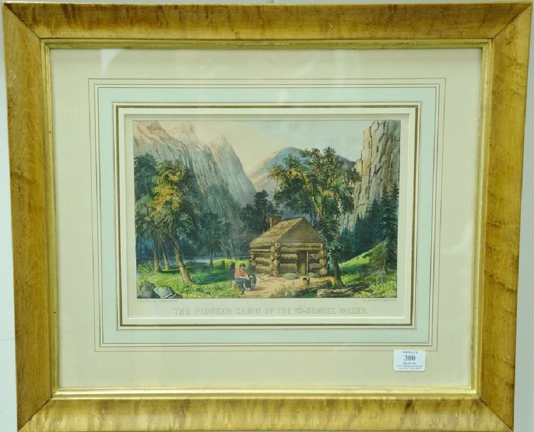 "Currier & Ives pair of colored lithograph prints, ""The"