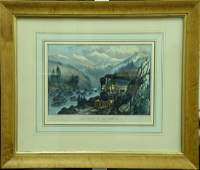 Currier & Ives, group of three colored lithograph