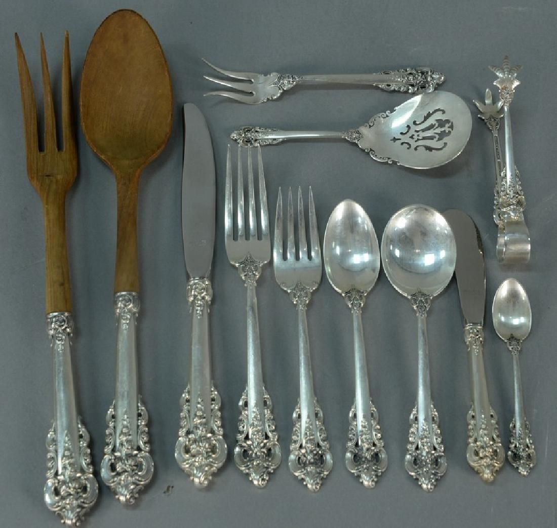Grand Baroque by Wallace sterling silver flatware set,