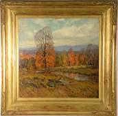 "Emile Albert Gruppe (1896-1978), oil on canvas, ""Late"