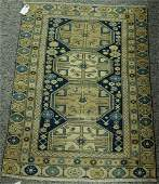 Caucasian Oriental throw rug, early 20th century (some