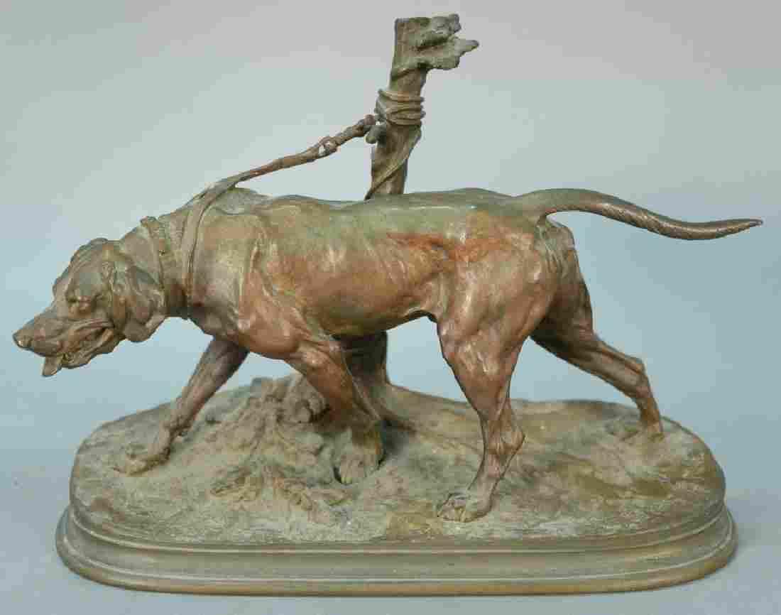 "Pierre Jules Mene (1810-1879), bronze, ""Chien Limier"""