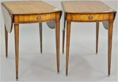 Pair of Beacon Hill fruitwood drop leaf Pembroke