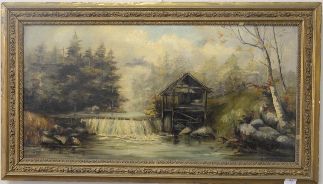 William Lester Stevens (1888-1969), oil on canvas, Dam