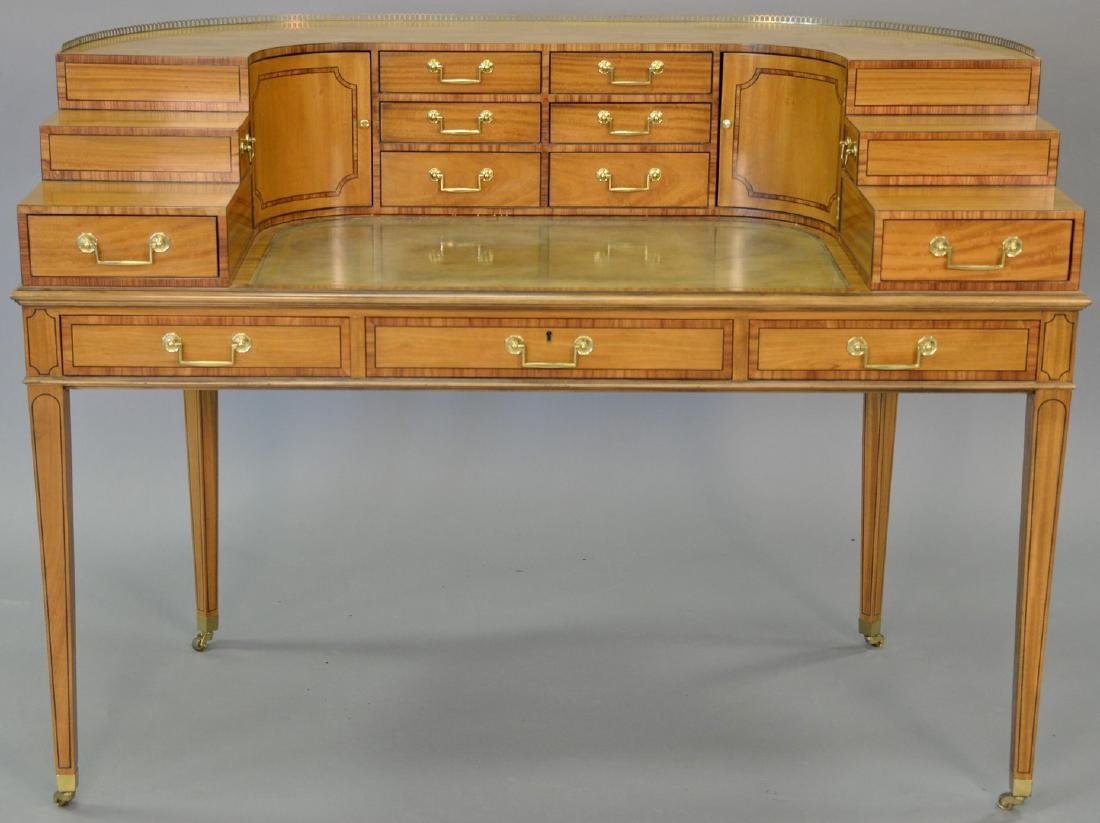 Baker collector's Edition stepback desk with tooled