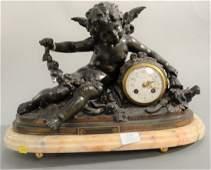 After Francois Moreau French figural mantle clock