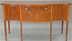 Federal style mahogany sideboard with panel and bell