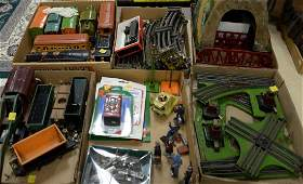 Lionel vintage train set including two engines crane