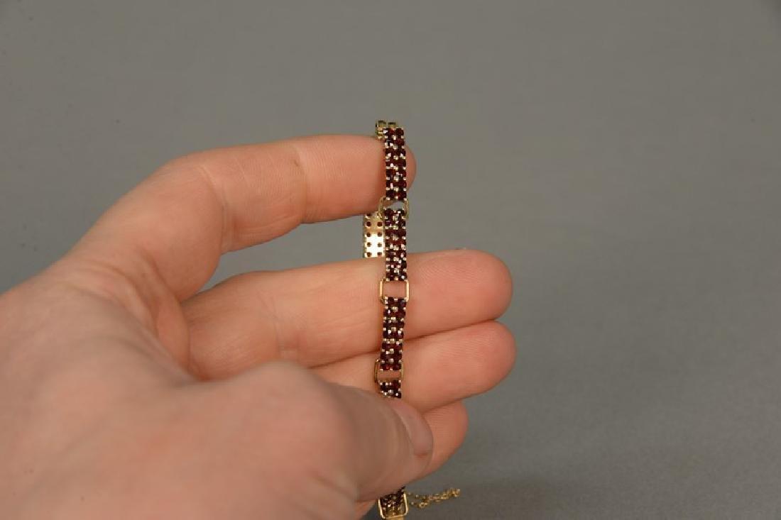 18K gold bracelet with ten rectangular sections, each - 2