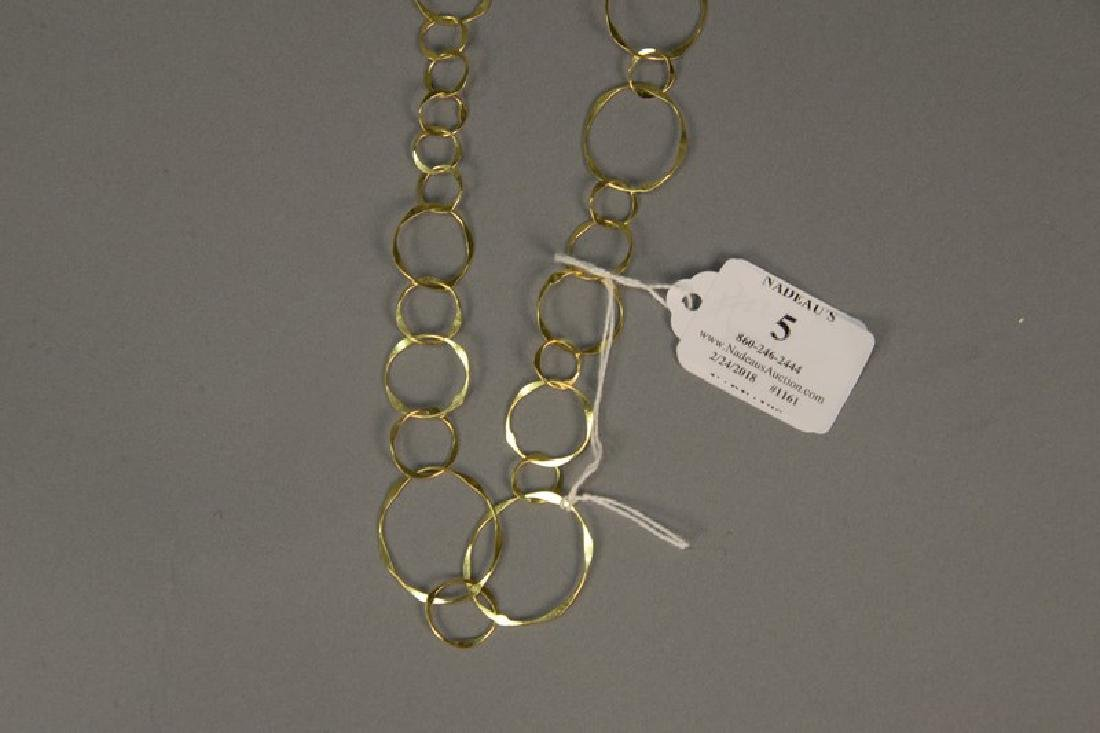 14K gold necklace of circles, 13 grams - 2