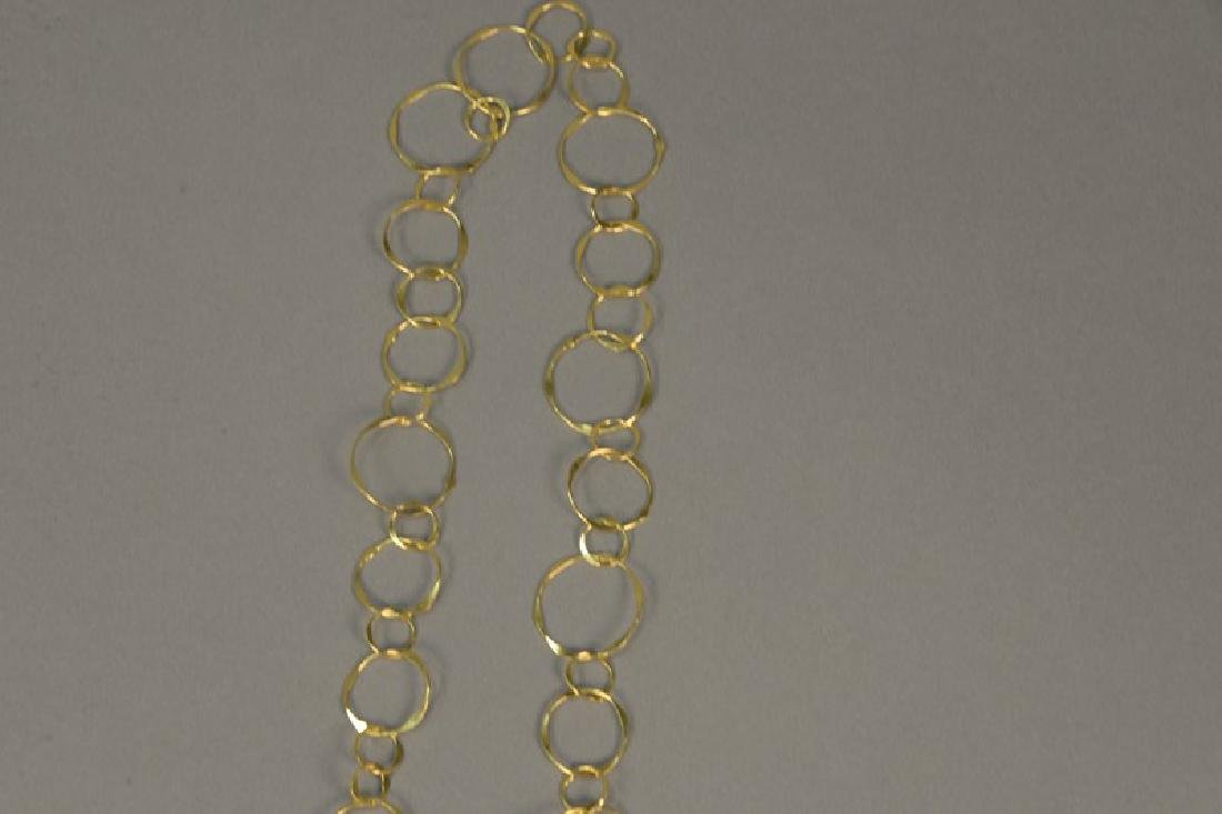 14K gold necklace of circles, 13 grams - 3