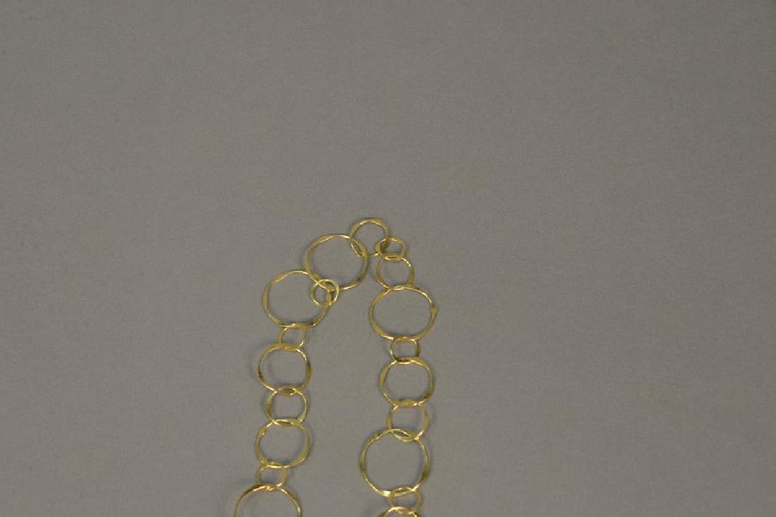 14K gold necklace of circles, 13 grams - 4